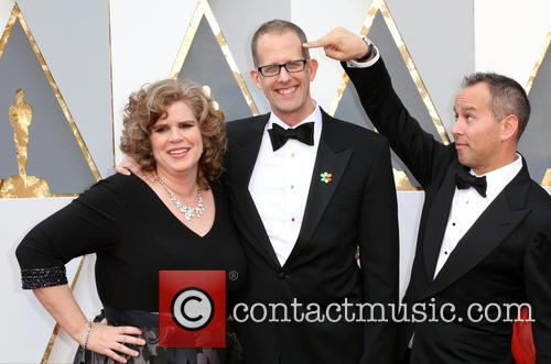 Amanda Docter, Pete Docter and Jonas Rivera 2