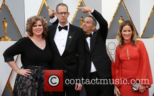 Amanda Docter, Pete Docter, Jonas Rivera and Michele Rivera 3