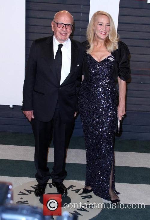 Rupert Murdoch and Jerry Hall 1