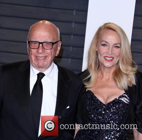 Rupert Murdoch and Jerry Hall 2