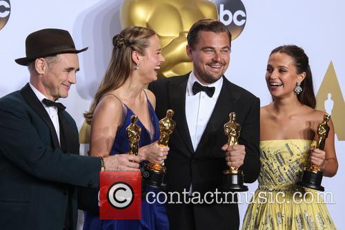 Mark Rylance, Brie Larson, Leonardo Dicaprio and Alicia Vikander 5