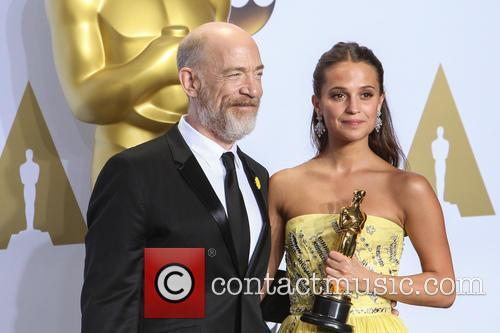 J.k. Simmons and Alicia Vikander 1