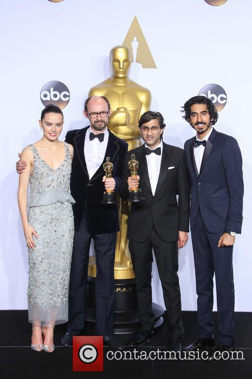 James Gay-rees, Asif Kapadia, Daisy Ridley and Dev Patel