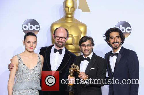 James Gay-rees, Asif Kapadia, Daisy Ridley and Dev Patel 2