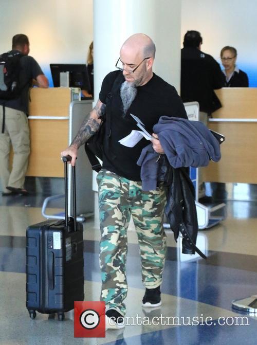 Scott Ian at Los Angeles International Airport
