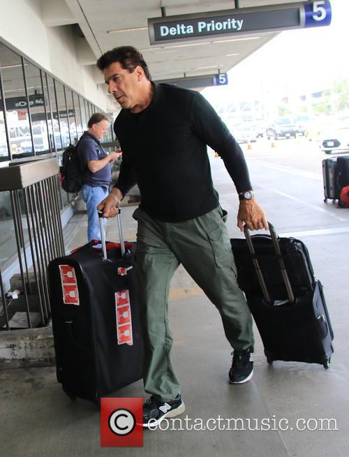 Lou Ferrigno arrives for a flight at LAX