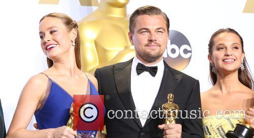 Brie Larson, Leonardo Dicaprio and Alicia Vikander 1
