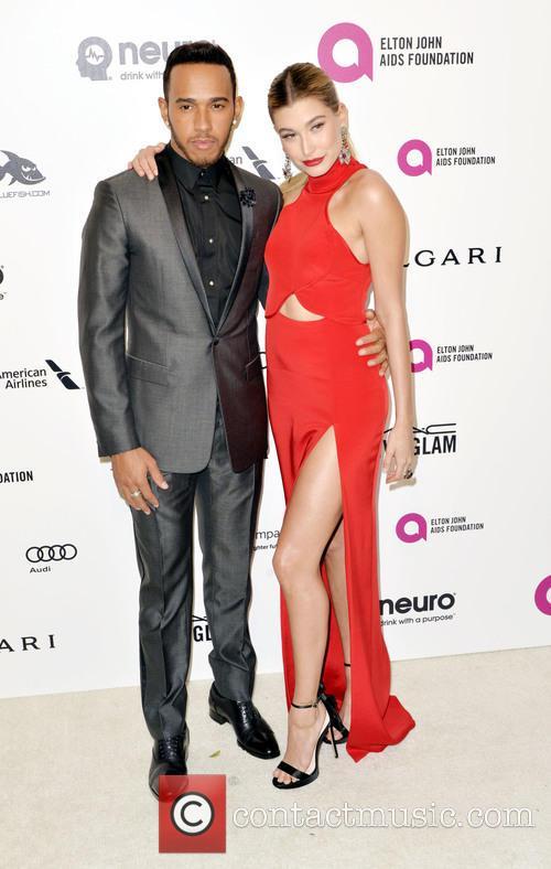 Hailey Baldwin and Lewis Hamilton 1