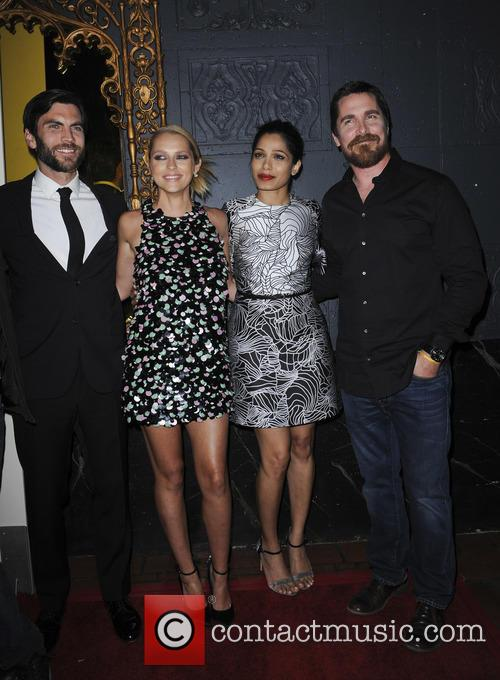Wes Bentley, Teresa Palmer, Freida Pinto and Christian Bale 9