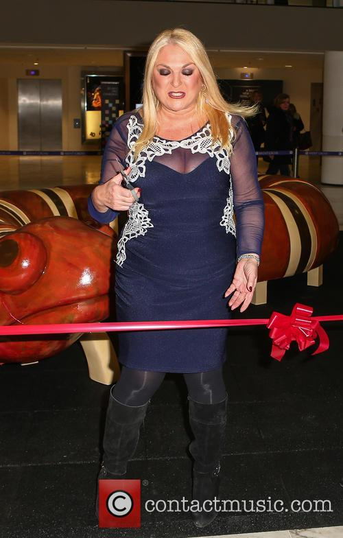Vanessa Feltz unveils an art installation at Brent...