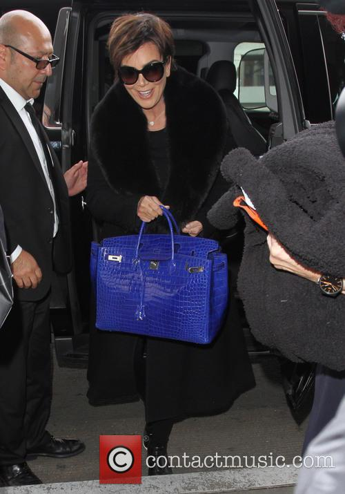 Kris Jenner arrives at Los Angeles International (LAX)...