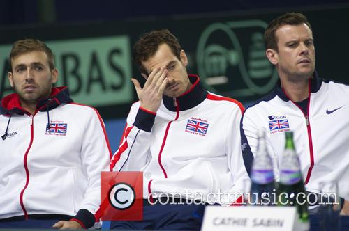 Dan Evans, Andy Murray and Leon Smith 4
