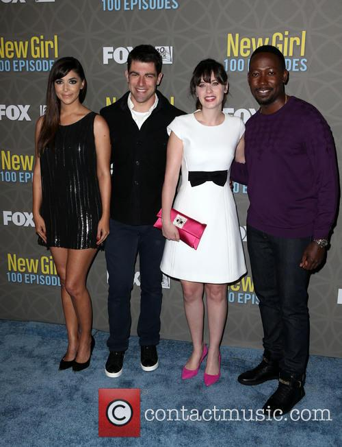 Hannah Simone, Max Greenfield, Zooey Deschanel and Lamorne Morris 3