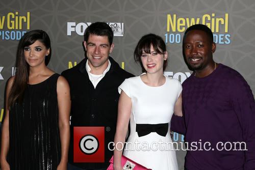 Hannah Simone, Max Greenfield, Zooey Deschanel and Lamorne Morris 4