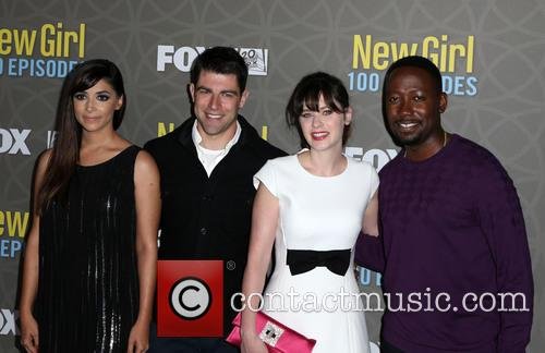 Hannah Simone, Max Greenfield, Zooey Deschanel and Lamorne Morris 5
