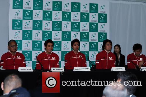 Minoru Ueda, Kei Nishikori, Yasutaka Uchiyama, Taro Daniel and Yoshihito Nishioka 1