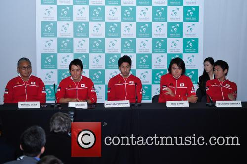 Minoru Ueda, Kei Nishikori, Yasutaka Uchiyama, Taro Daniel and Yoshihito Nishioka 5