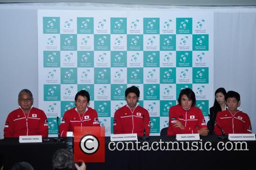 Minoru Ueda, Kei Nishikori, Yasutaka Uchiyama, Taro Daniel and Yoshihito Nishioka 6