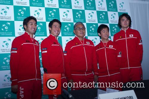 Minoru Ueda, Kei Nishikori, Yasutaka Uchiyama, Taro Daniel and Yoshihito Nishioka 7
