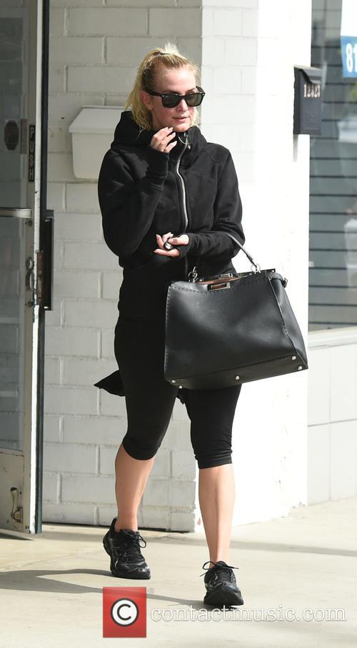 Ashlee Simpson after her workout