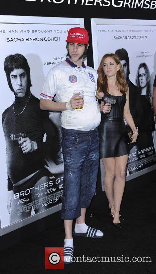 Sacha Baron and Isla Fisher 1