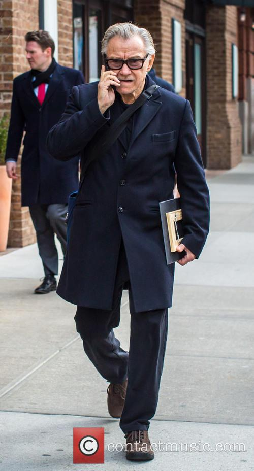 Harvey Keitel out and about in New York...