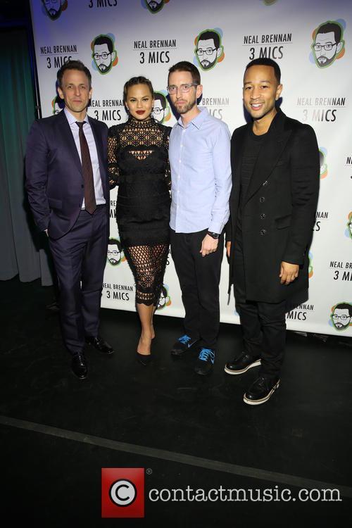 Seth Meyers, Chrissy Teigan, Neal Brennen and John Legend 2