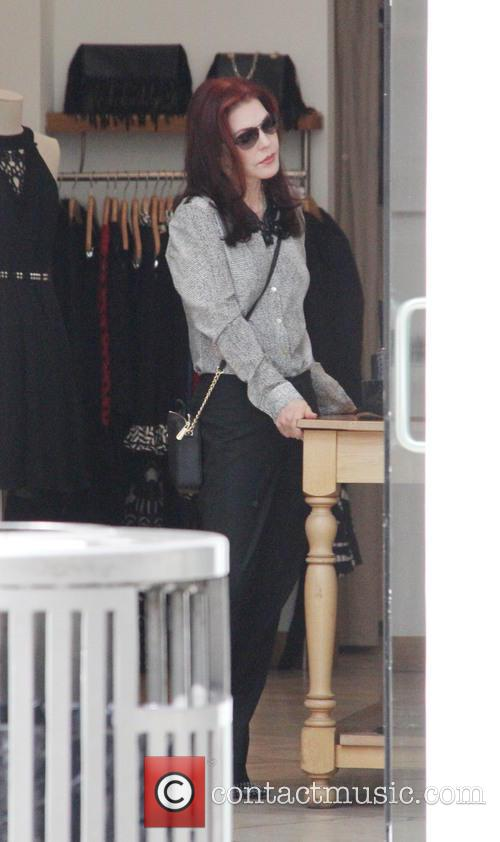 Priscilla Presley out shopping in Beverly hills