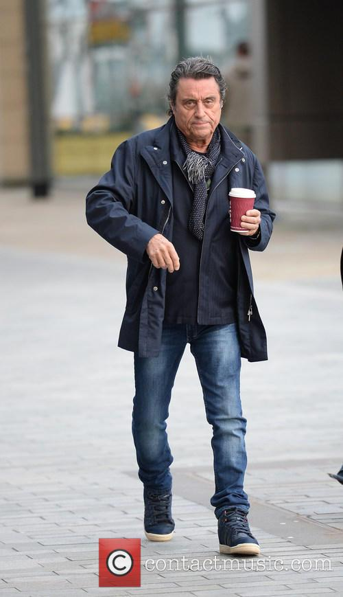 Ian McShane leaving the BBC Breakfast studios