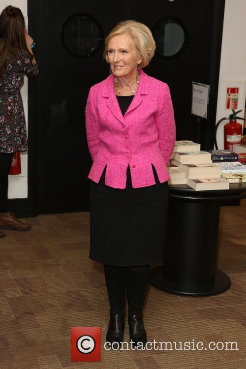 Mary Berry attends a book signing for her...