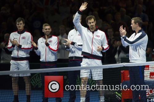 Andy Murray, Jamie Murray, Dominic Inglot, Dan Evans and Leon Smith 1