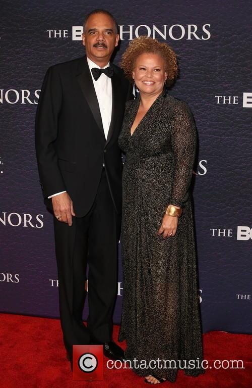 Eric Holder and Debra Lee 1
