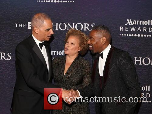 Eric Holder, Debra Lee and Louis Carr 3