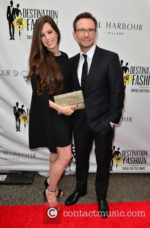 Brittany Slater and Christian Slater 1