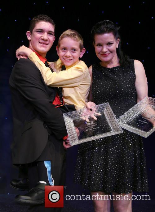 Hunter Gandee, Braden Gandee and Pauley Perrette 4