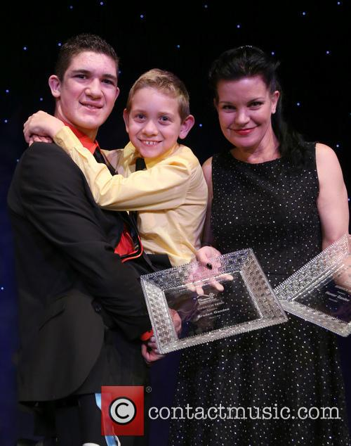 Hunter Gandee, Braden Gandee and Pauley Perrette 5