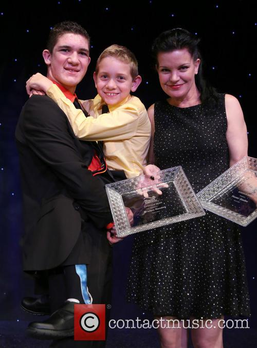 Hunter Gandee, Braden Gandee and Pauley Perrette 6