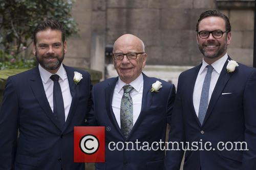 Lachlan Murdoch, Rupert Murdoch and James Murdoch 1
