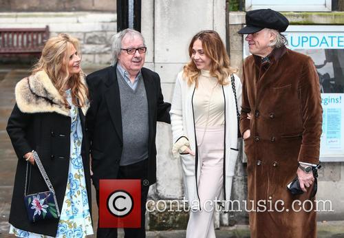Suzanne Accosta, Bill Wyman, Jeanne Marine and Bob Geldof 1