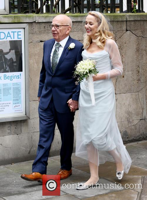 Rupert Murdoch and Jerry Hall 3