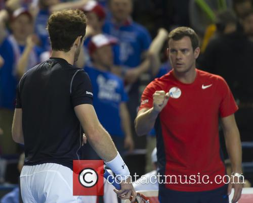 Andy Murray and Leon Smith 8