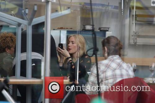 Kate Winslet on the set 'Collateral Beauty'