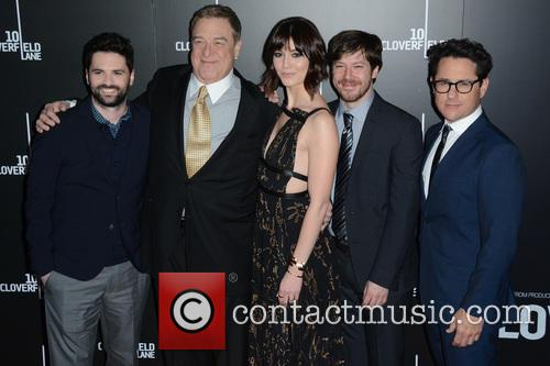 Dan Trachtenberg, John Goodman, Mary Elizabeth Winstead, John Gallagher Jr. and J.j. Abrams 4