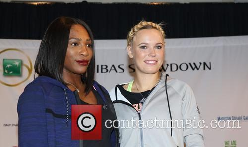 Serena Williams and Caroloine Wozniacki
