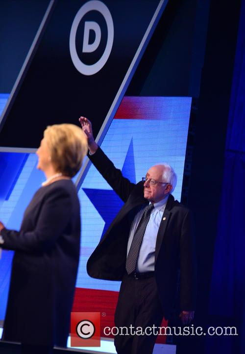 Bernie Sanders and Presidential Candidate Hillary Rodham Clinton 1