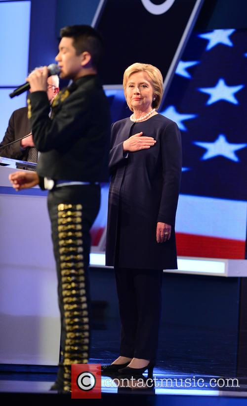Sabastian De La Cruz and Presidential Candidate Hillary Rodham Clinton 1