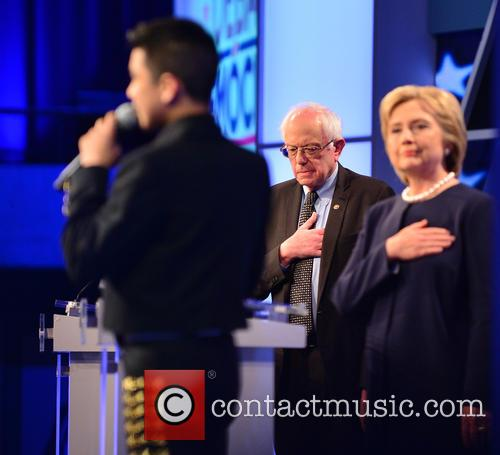Bernie Sanders, Sabastian De La Cruz and Presidential Candidate Hillary Rodham Clinton 3