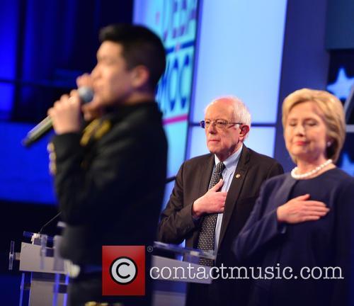 Bernie Sanders, Sabastian De La Cruz and Presidential Candidate Hillary Rodham Clinton 4
