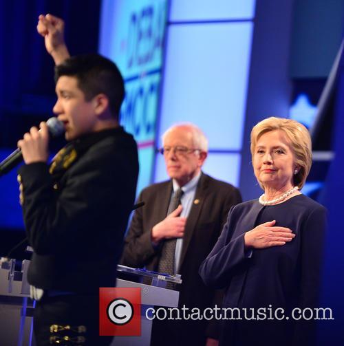 Bernie Sanders, Sabastian De La Cruz and Presidential Candidate Hillary Rodham Clinton 5