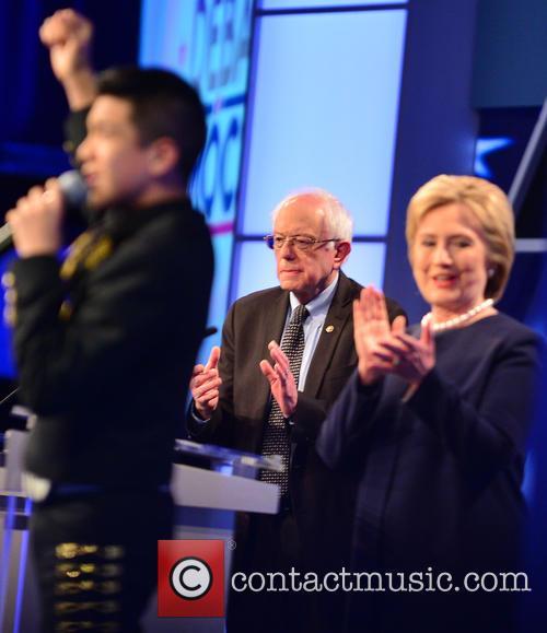 Bernie Sanders, Sabastian De La Cruz and Presidential Candidate Hillary Rodham Clinton 6